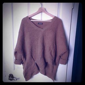 Fashion Nova slouchy asymmetrical sweater
